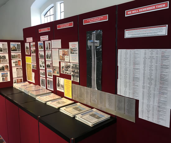 Ringwood Meeting House - Lest We Forget exhibition